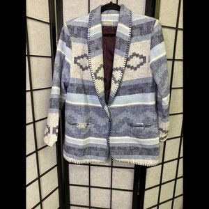 Coldwater Creek Navajo Print Oversized Jacket